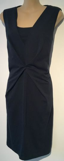 MAMALICIOUS NURSING ZELMA NAVY BLUE  JERSEY DRESS BNWT SIZE L 14